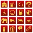 Set of Circus Icons — Stock Vector #67789219