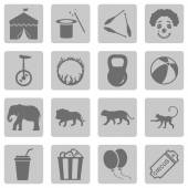 Set of Circus Icons — Stock Vector