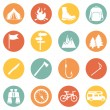 Set of Hiking and Camping icons — Stock Vector #67871833