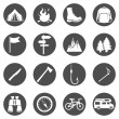 Set of Hiking and Camping icons — Stock Vector #67871879