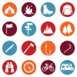 Set of Hiking and Camping icons — Stock Vector #67872051
