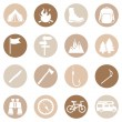 Set of Hiking and Camping icons — Stock Vector #67872331