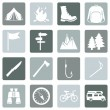 Set of Hiking and Camping icons — Stock Vector #67872381