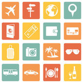 Set of Travel and Vacation Icons — Stock Vector