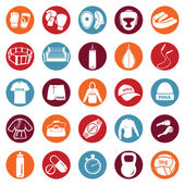 Set of Mix Martial Arts Icons — Stock Vector