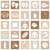 Zestaw ikon sztuk Mix — Wektor stockowy
