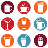 Set of Drinks Icons — Stock Vector