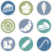 Set of Dessert Icons — Stock Vector