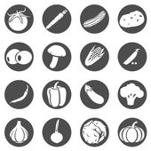 Set of Vegetables Icons — Stock Vector