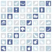 Set of 64 Food Icons — Stock Vector