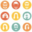 Set of Hairstyles Icons — Stock Vector #68782071