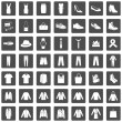 Set of 49 Clothes Icons — Stock Vector #68782199