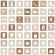 Set of 49 Clothes Icons — Stock Vector #68782311