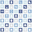 Set of 49 Clothes Icons — Stock Vector #68782325