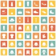 Set of 49 Clothes Icons — Stock Vector #68782339
