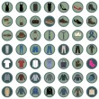 Set of 49 Clothes Icons — Stock Vector #68782505