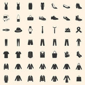 Set of 49 Clothes Icons — Stock Vector
