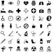 Set of 49 medical icons — Stock Vector