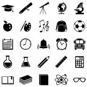 Set of 25  School Icons. — Stock Vector