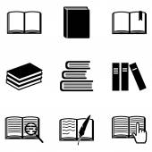 Set of  Books Icons — Stock Vector