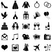 Set of 25  Wedding Icons — Stock Vector