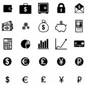 Set of 25 finance icons — Stock Vector