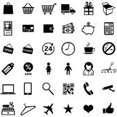 Set of 36 shopping icons — Stock Vector
