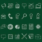Set of Chalk Advertising Icons — Stockvektor