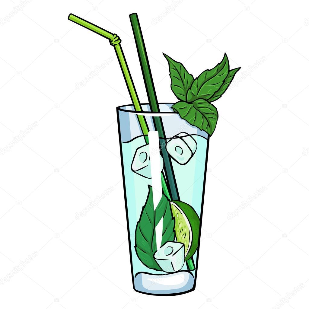 Dessin anim cocktail mojito image vectorielle 73483249 - Dessin cocktail ...