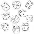 Set of Sketch Dices — Stock Vector #76737939