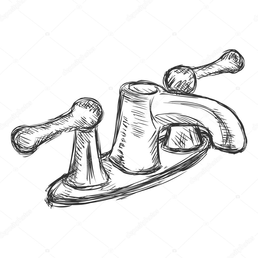 The Kitchen Sink Art Drawing Sketch Sketchbook By: Kitchen Faucet Clip Art