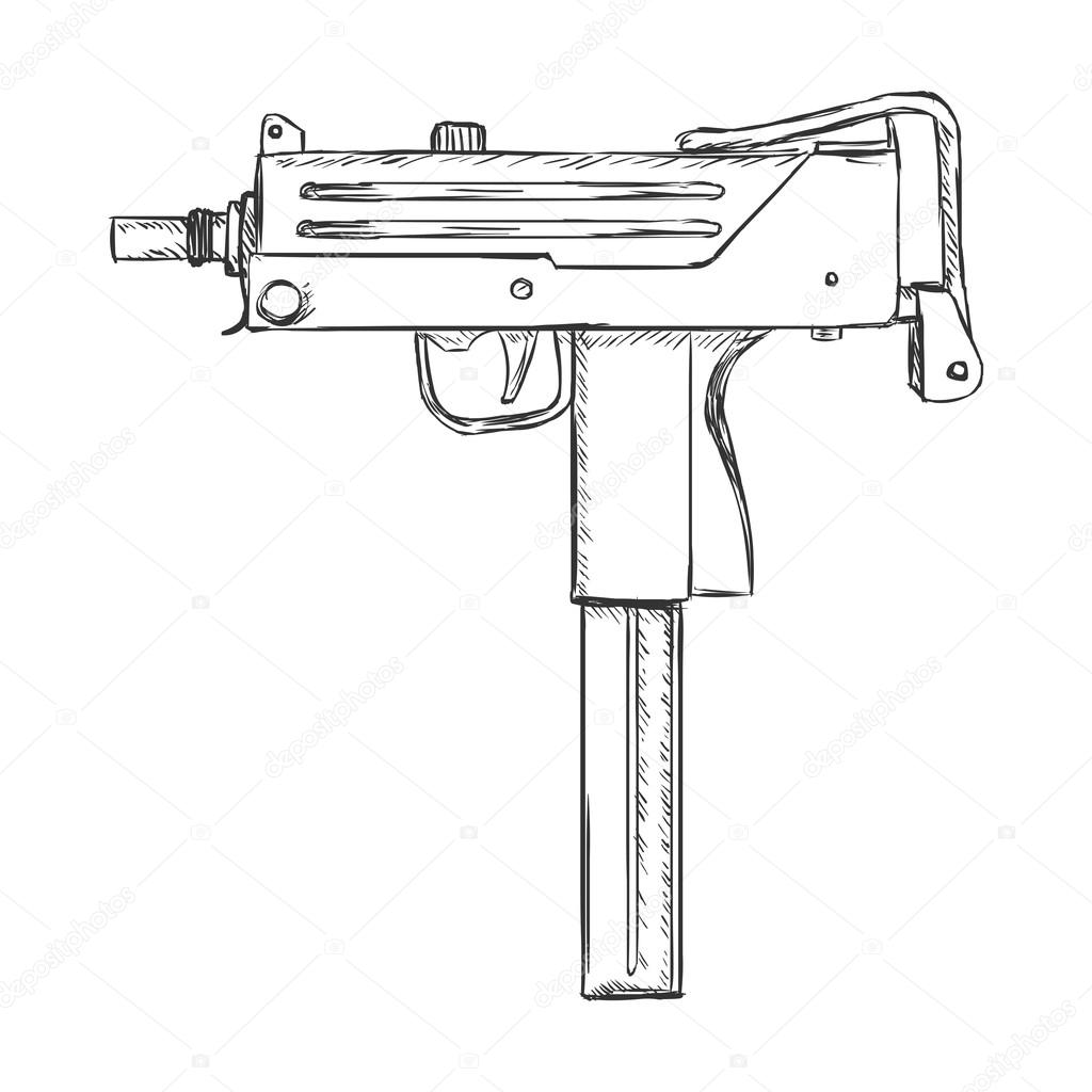 Simple Gun Coloring Pages