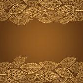 Desen yaprak kahverengi tonlarında — Stok Vektör