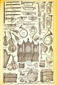 Collection of musical instruments — Stock Photo