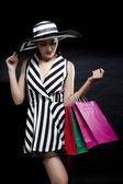 带购物袋的女人 — Stockfoto