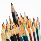 Pencils with one black on top — Stock Photo