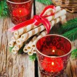 Christmas candles — Stock Photo #53257081
