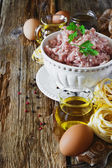 Minced meat in a bowl  — Stock Photo