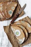Spoiled bread — Stock Photo