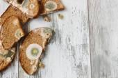 spoiled moldy bread  — Stock Photo