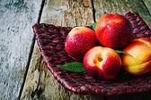 Ripe nectarines — Stock Photo