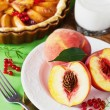 Постер, плакат: Fresh peaches and peach pie