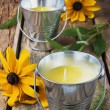 Yellow fragrant candles — Stock Photo #62127101