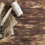 Old tailoring scissors — Stock Photo #71845093