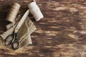 Old tailoring scissors — Stock Photo