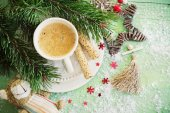 Christmas coffee — Stock Photo