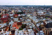 Top view of the city Lviv — Stock Photo
