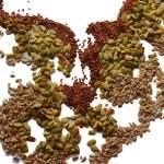 Sunflower seeds, flax, pumpkin — Stock Photo #68726131