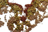 Sunflower seeds, flax, pumpkin — Stock Photo