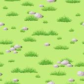 Grass and stones — Stockvektor